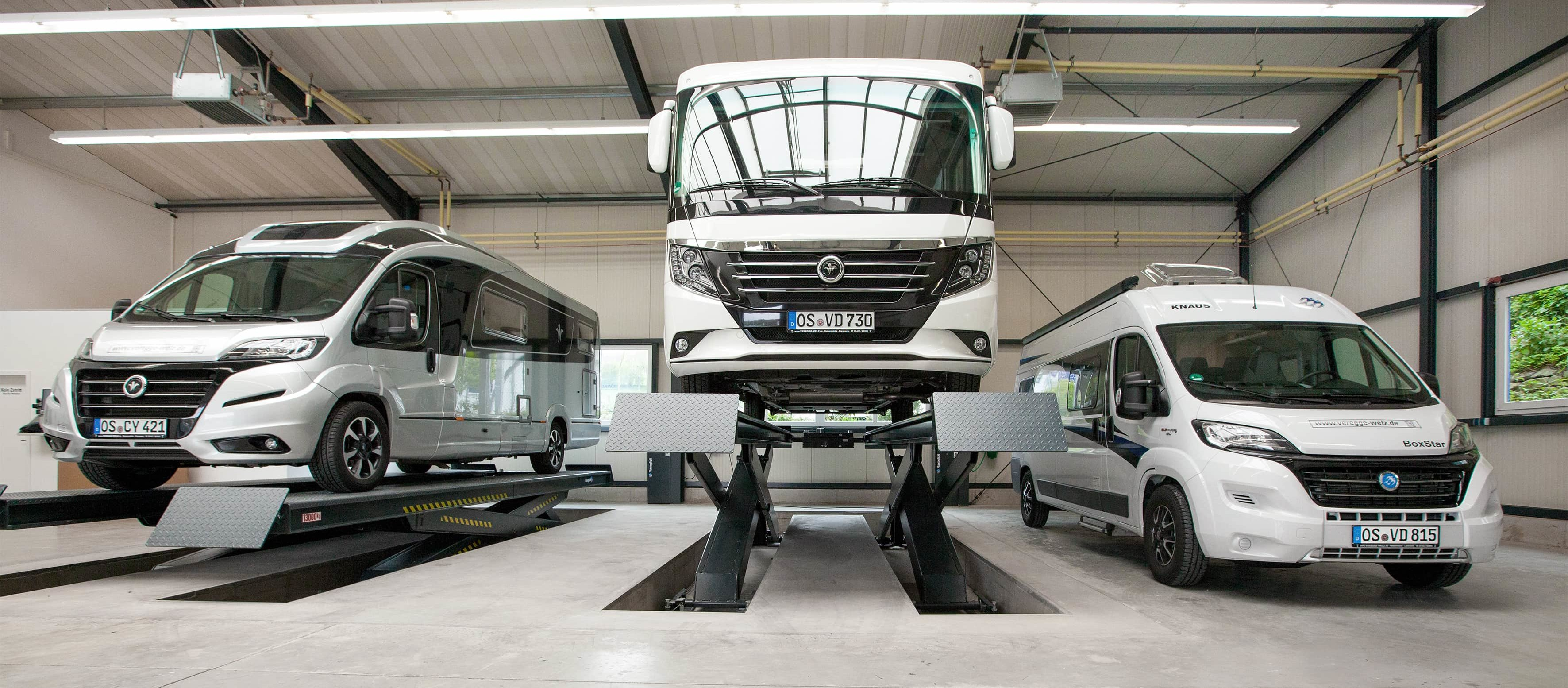 Werkstatt-Service für Wohnmobile und Wohnwagen