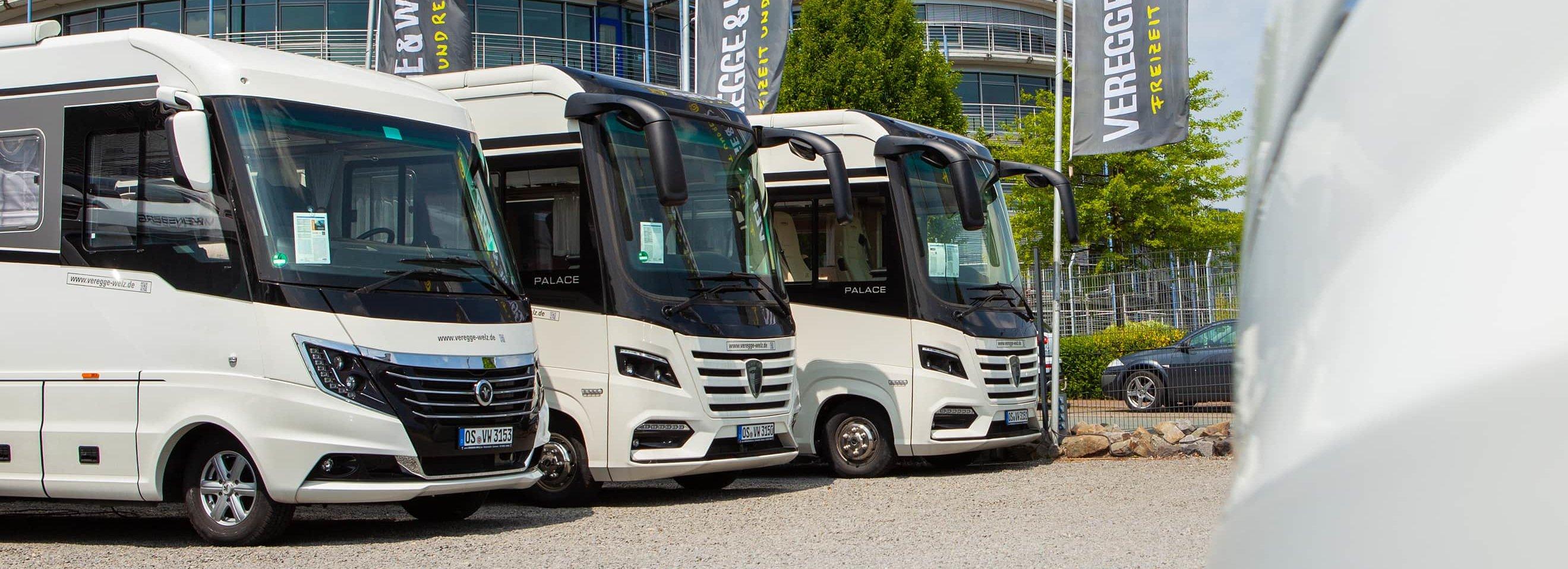 Luxus-Wohnmobile mieten bei VEREGGE & WELZ